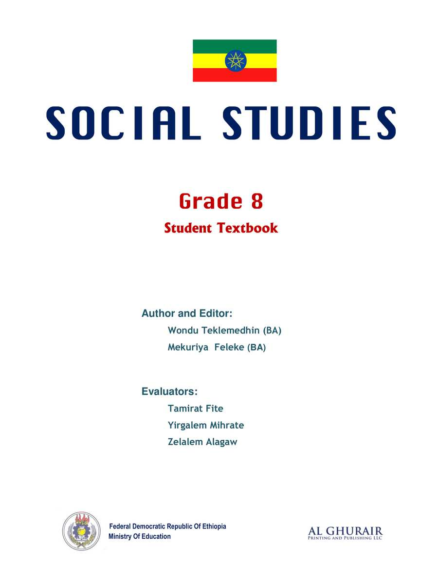 Social Studies grade 8                                  page 1