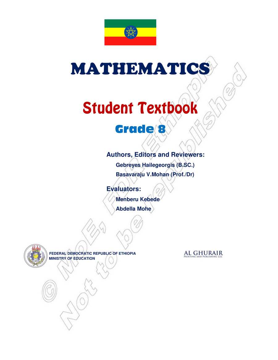 Math grade 8                                  page 1