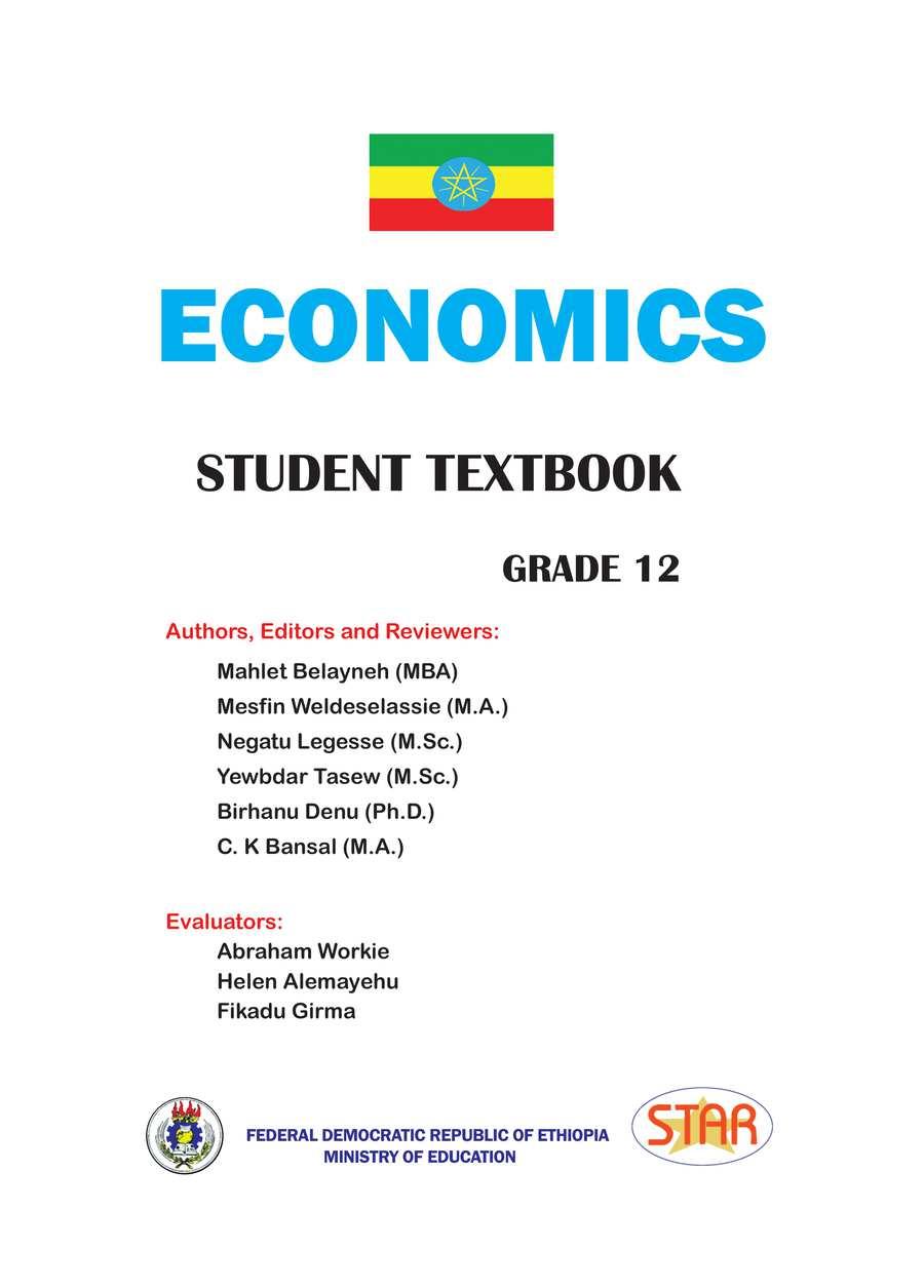 Economics grade 12                                  page 1
