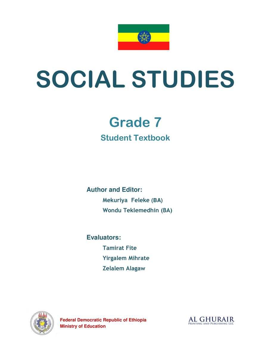 Social Studies grade 7                                  page 1