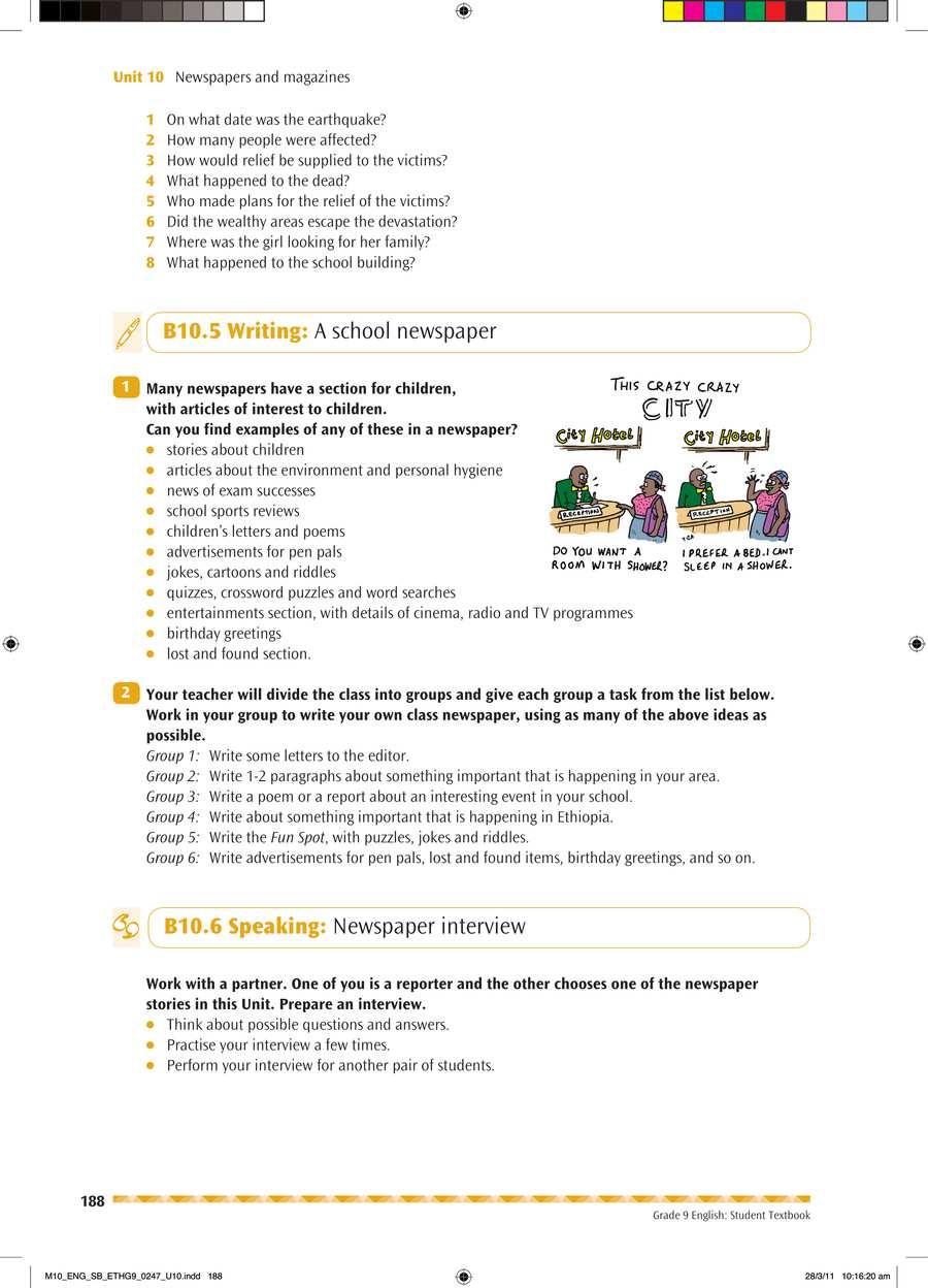 English grade 9                                      part 4                                  page 2