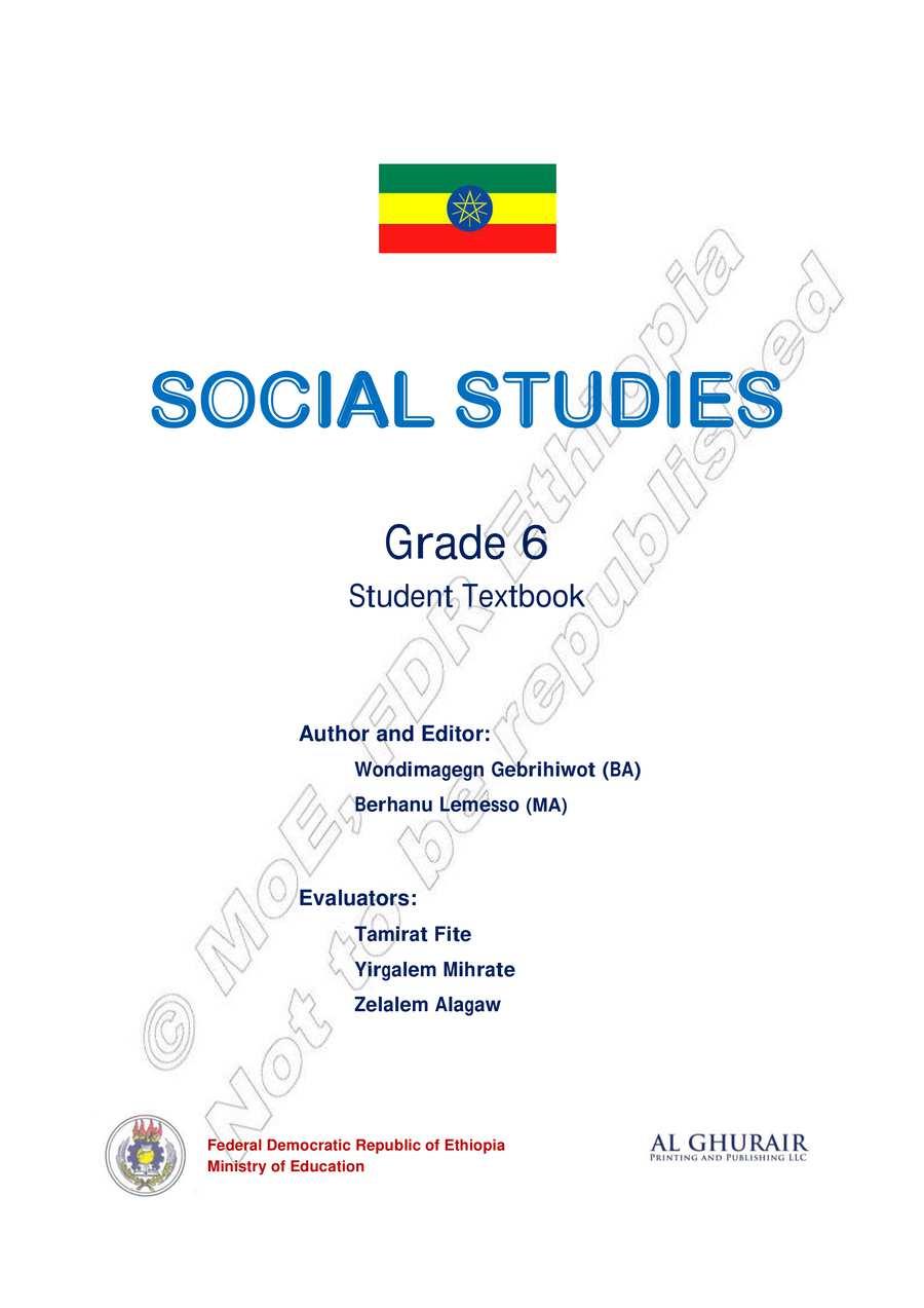 Socal Studies grade 6                                  page 1