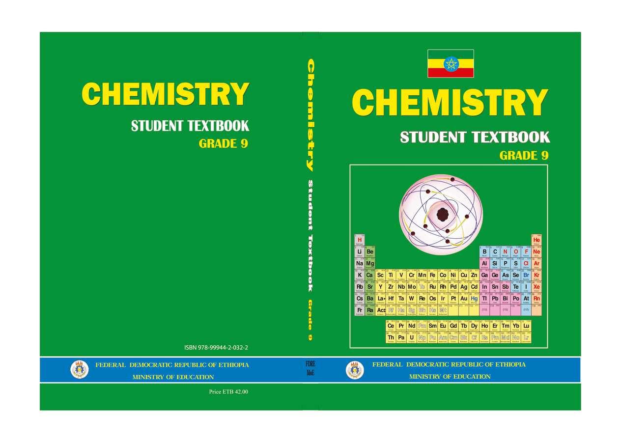 Chemistry grade 9                                  page 1
