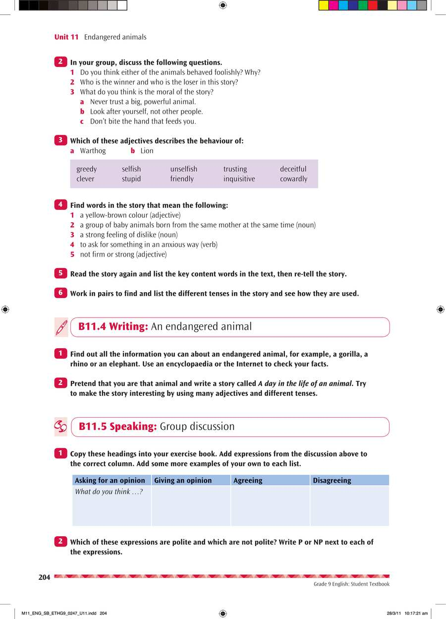 English grade 9                                      part 4                                  page 18