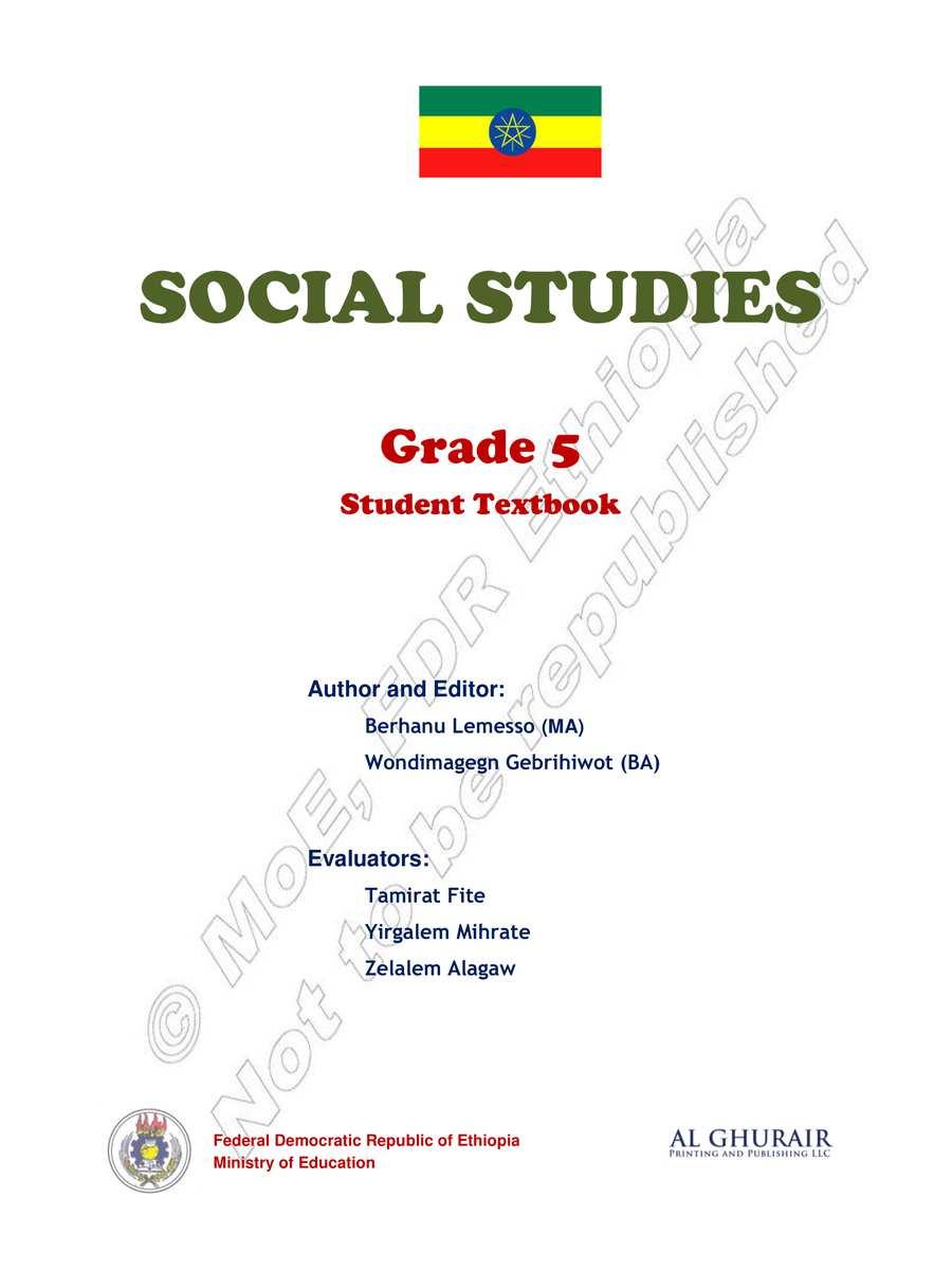 Socal Studies grade 5                                  page 1