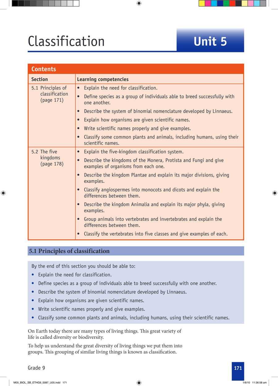 Biology grade 9                                      part 3                                  page 1