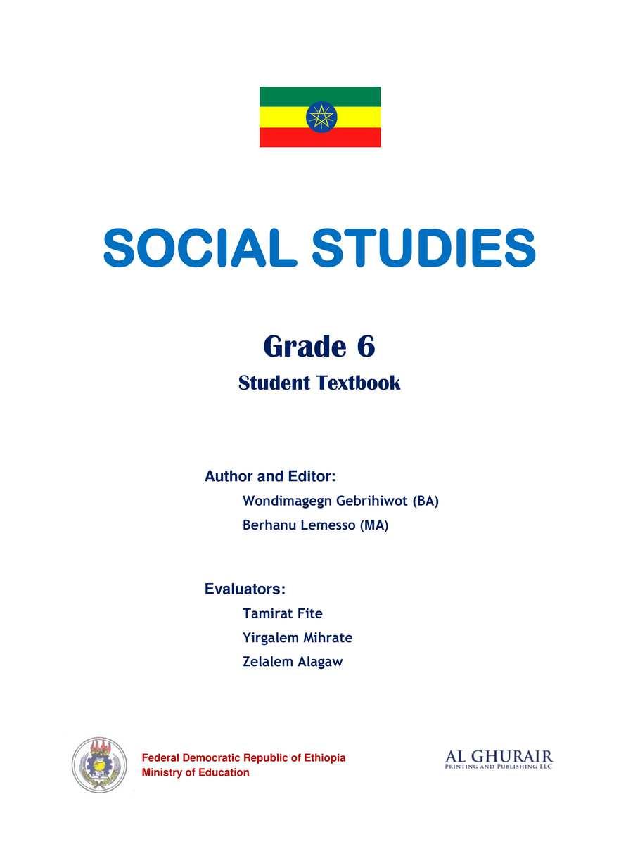 Social Studies grade 6                                  page 1
