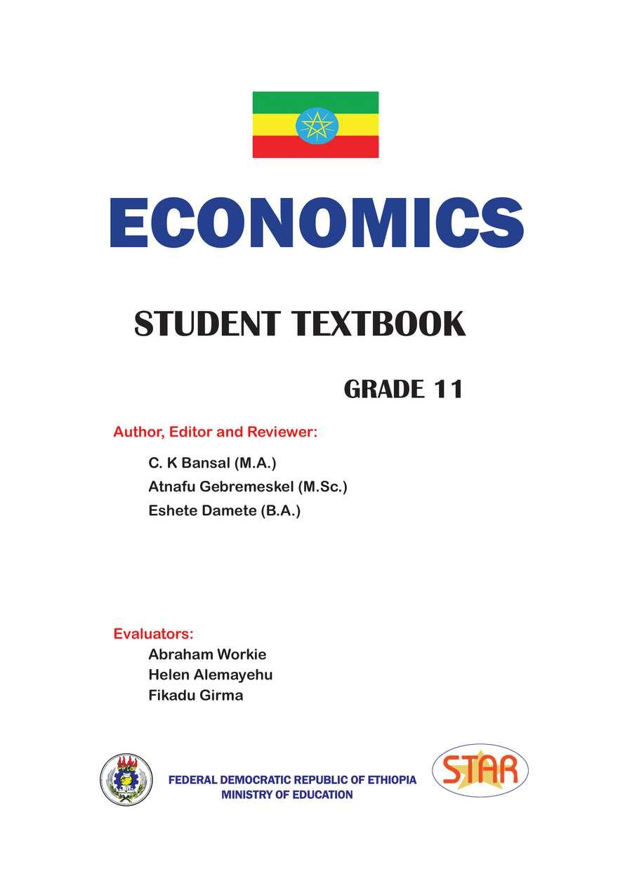 Economics grade 11                                  page 1