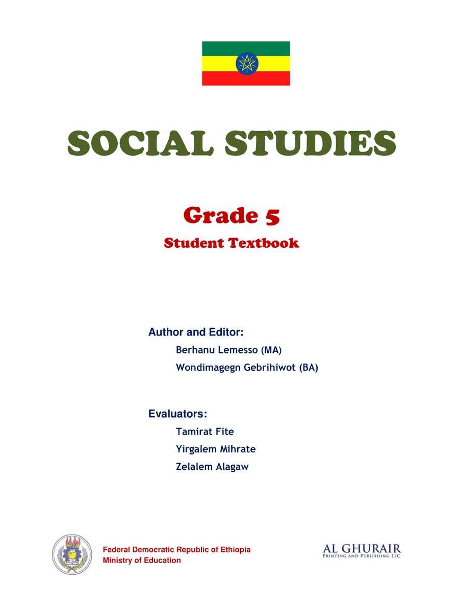 Social Studies grade 5                                  page 1
