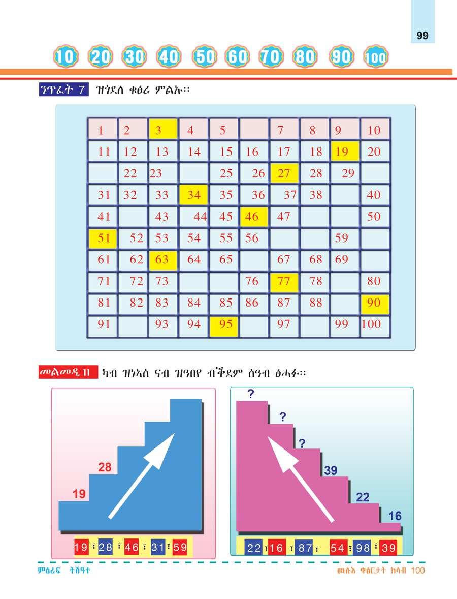 Math grade 1                                  page 105