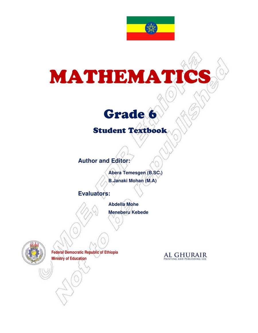 Math grade 6                                  page 1